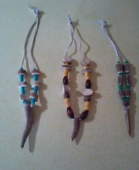 two blue and red beaded necklaces Salem, 97301