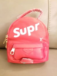 Red supreme learher mini backpack Dollard-des-Ormeaux, H9B 2C8