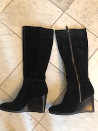 Franco Sarto black suede tall boots 10m Fairfield