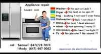 Repair your dishwasher, Dryer, stove Mississauga
