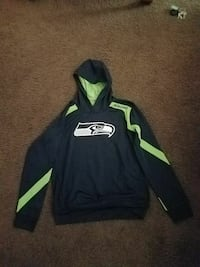 black and lime-green Seattle Seahawks pull-over hoodie