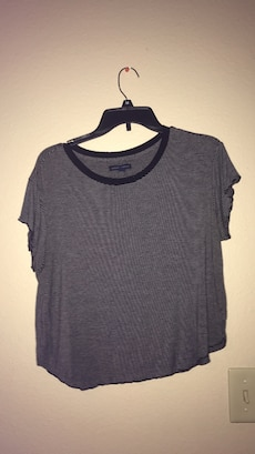 women's gray loose shirt