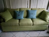 green and white fabric sofa Clearwater, 33764