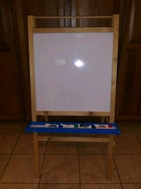 Wooden Dry Erase/ Chalkboard/Painting Easel