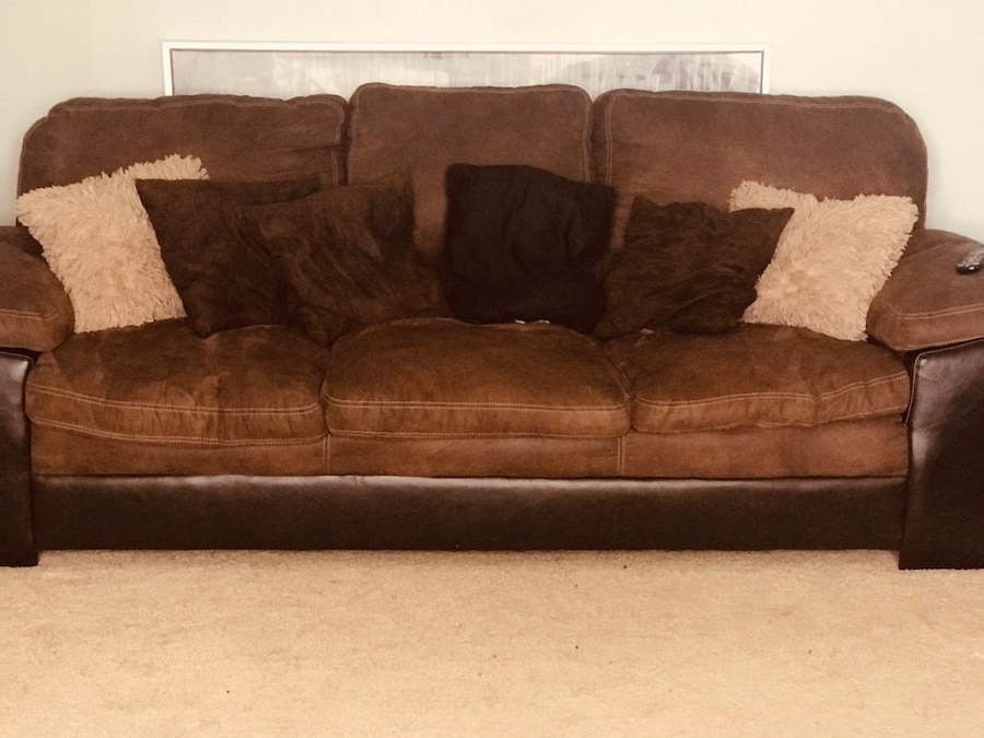 used 2 chocolate colored sofas 150 each or best offer for sale in rh tr letgo com