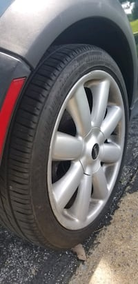 17x7  4x100  new tires wheels rims tires ONLY
