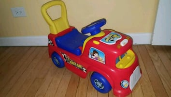 toddler's red and blue ride on toy