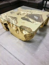 ***Z Gallerie gold coffee table *** San Diego