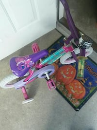 children's purple and pink training bike Auburn, 46706