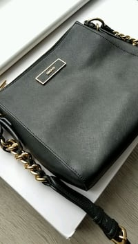 Black and Gold DKNY Crossbody