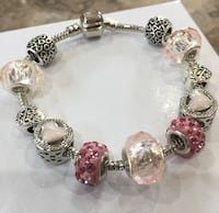 silver and pink beaded bracelet Aldie, 20105