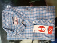 blue and white plaid button-up shirt Bengaluru, 560098