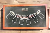 Portable casino table with multiple games. Bolton, 05676