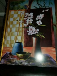 brown wooden framed painting of flowers Bronx, 10461