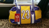 yellow, purple and white 23 printed hand bag Richmond, 94804
