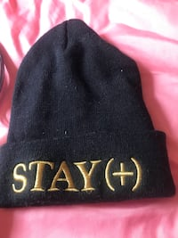 black and brown Stay+ embroidered knit cap Tulsa, 74106