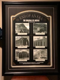 Original 6 Arenas signed Framed Print
