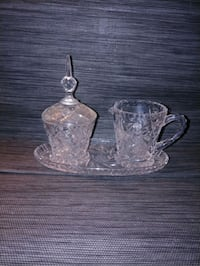 GLASS WARE cream and sugar tray Toronto, M6G 2R3