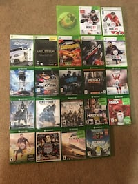 Xbox one game case lot Calgary, T2X 0M1
