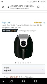 Only used twice air fryer 39 mi