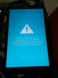 Galaxy tab A. 10 inch Screen frozen on this screen Mesa, 85201