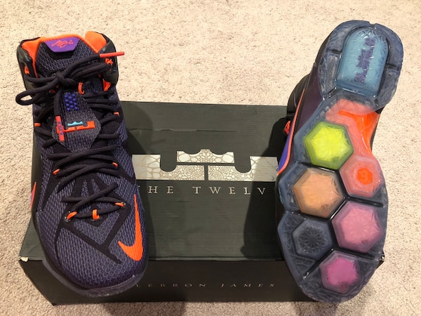 af2aaab1ecebcf Used Nike LeBron 12 Shoes - Collection shoes - for sale in River ...