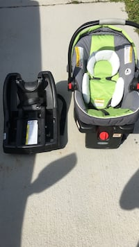 baby's black and gray car seat carrier Estell Manor, 08330