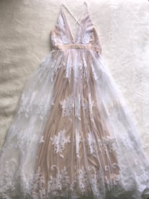 Prom dress- Gorgeous gold and white