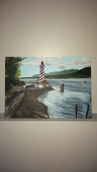 Lighthouse Scene Original Acrylic Painting  St Catharines, L2T 3K7