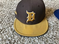 Detroit brown and yellow fitted cap 481 mi