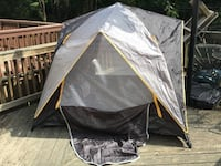 Black and gray dome tent