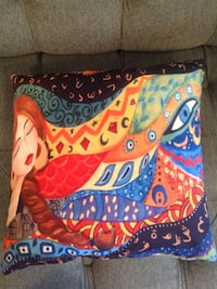 Multicolored throw pillow / 6 pillows for all 20 dollars