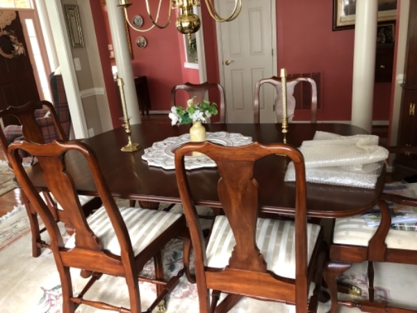 used solid mahogany dining table set for sale in linganore letgo rh tr letgo com