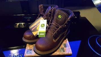 "John Deere Boots Men's 6"" Waterproof Lace-Up Work Boots New"