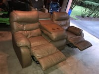 Brown Dual Recliner Couch w/ Folding Arm Rest Cupholder Silver Spring, 20906