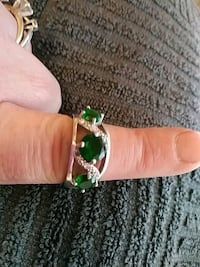 Genuine Emerald and Diamind Ring 925 Stamped  Chico, 95926