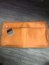 Carmelo leather travel/garment bag