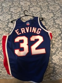 Julius Erving Nets rare throwback jersey Dr J Mullica Hill, 08062