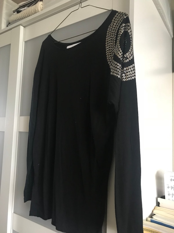 Zara thin black long sleeve t shirt
