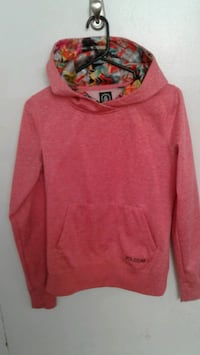 red Volcom pullover hoodie