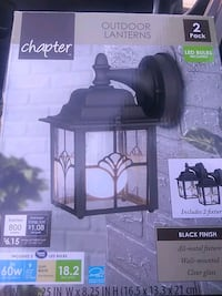 2 Energy Star New Outdoor Lanterns w/LED Bulbs District Heights, 20747