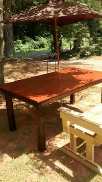 rectangular brown wooden table; brown and beige pa Asheboro, 27203