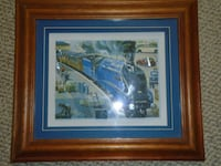 Train Painting Wooden Frame never hang