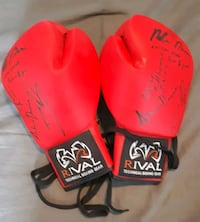 Gants de boxes signés groupe gym autograph boxing gloves