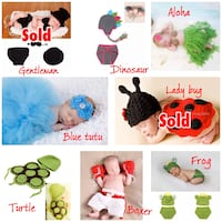 Newborn photography outfits NOW $10 EACH SET! Brand new! Edmonton, T6W 2C3