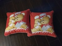 two red mice-printed throw pillows Newmarket, L3Y 4M7