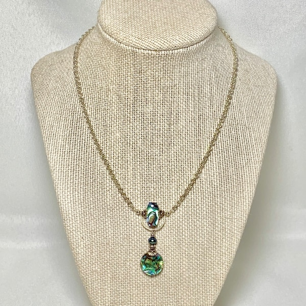Sterling Silver Abalone Necklace