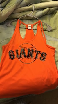 PINK Giants jersey racerback tank top