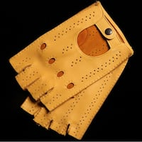Yellow Mustard Deerskin Driver Gloves Woodbridge, 22192