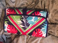 red, blue, and white floral makeup travel bag Newmarket, L3Y 2P9